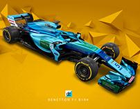 Benetton F1 194 Concept Livery