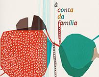 """livro """"À conta da família"""" [On Account of Family]"""