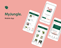 My Jungle - Mobile App UX UI