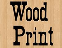 Wood Print Font