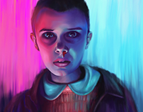 ELEVEN - STRANGER THINGS | DIGITAL PAINTING