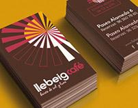 Llebeig Café: aplicaciones identidad corporativa 2016