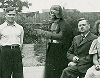 Vintage Family Photo Movie Scene Mashups