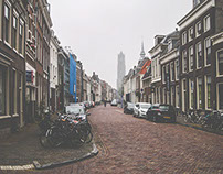 Utrecht in the morning mist