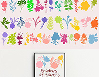 FREE FLOWERS SHADOWS VECTOR ELEMENTS