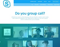 Rebrand of Skype Home Page with Double-Banded Header