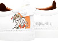 shoe painting designs