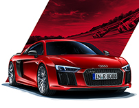Audi R8 Campaign 2015 Print and Folder