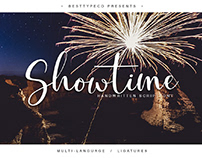 SHOWTIME - FREE HANDMADE CALLIGRAPHY FONT
