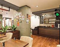 Cafe Moka İç Mekan Tasarım ve Görselleştirme