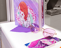 My illustrations for an Optometry window display