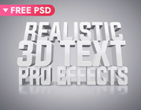 White 3D Text Effect (FREE DOWNLOAD)