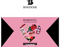 "Homepage design for ""Boudoir""; online shopping platfrom"