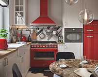 Kitchen in Smeg style