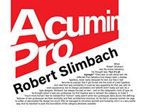 Acumin Pro Typography Poster