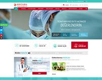Özel Erciyes Hastanesi Web Sitesi Tasarımı