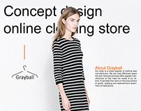 Concept design online clothing store