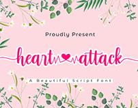Heart Attack | A Beautiful Script Font