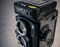 3D Model Yashica Mat-124G TLR Camera (1970-1986)