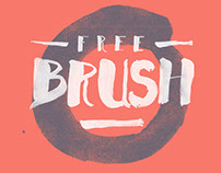 Free handwritten brush font set for Photoshop