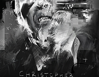 CHRISTOPHER LEE PORTRAIT