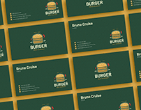 Free Burger Business Card Design Template
