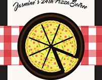 Pizza Bday flyer