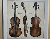 Violini , ink 24 x 24 cm Kamil Strzelecki