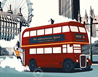 Mór Irish Gin London Illustration
