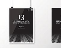 Plakat konkursowy Festiwal Polskich Sztuk Współczesnych