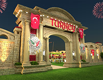 Global Village Turkish Court Concept