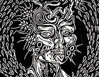 Alas, Flora y Sangre. Woodcut 2013/2015