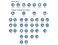 Icons for an Industrial Equipment Company