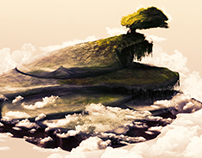 Concept Art Flying Island