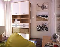 Tiny boy's room