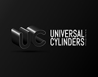 UNIVERSAL CYLINDERS 3D LOGO