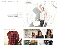 Kapsons Website Concept Design