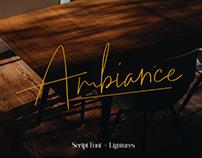 AMBIANCE - FREE SIGNATURE SCRIPT FONT