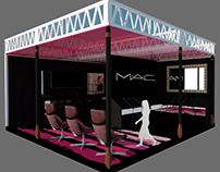 Arquitetura Efêmera - Stand para MAC (makeup)