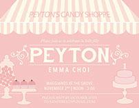 Peyton's Candy Shoppe Baby Shower Invitation