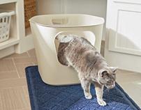 Leaf High-Sided Cat Litter Box
