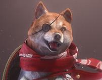 """Samurai Shiba #01 """"Battle of Dogs"""""""