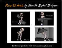 Posing 3D Models by Saurabh Naphad Designer