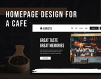 Homepage Design for a Cafe