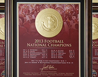 Florida State National Champion Gold Embossed Print