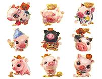 Happy Piggy Chinese new year~~