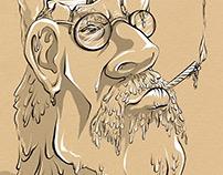 Pleasure to burn, caricature