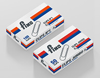 "Fanagra ""Fixo Clips N°1Jumbo"" Packaging"