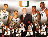 Miami Hurricanes 2015-16 Basketball Poster