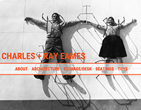 Charles and Ray Eames works website design